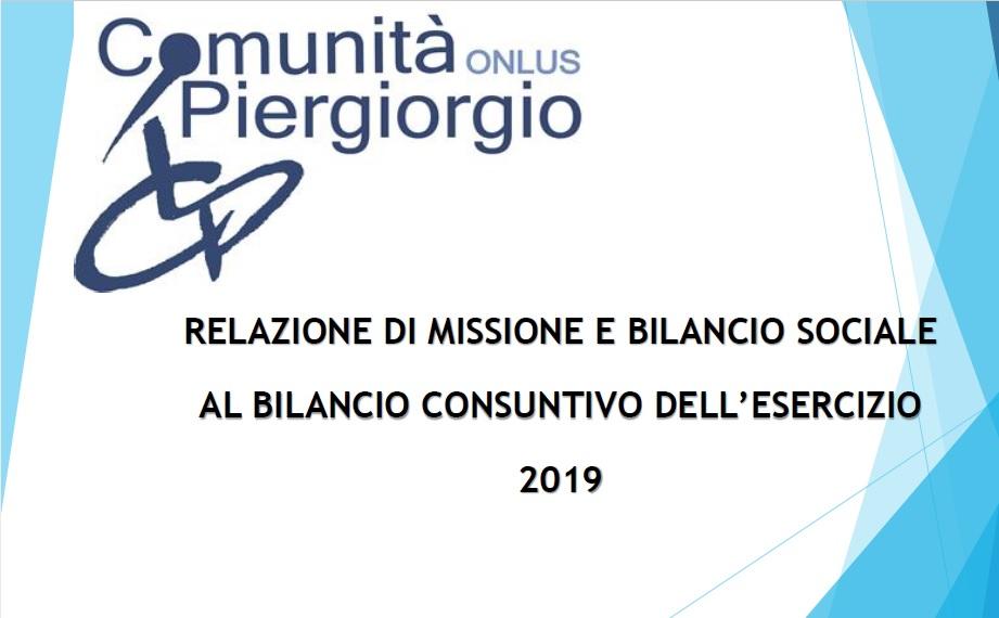 Bilancio sociale 2019 – Relazione di missione