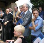 Arcivescovo Mazzocato, l'Ass. Piuzzi il consigliere Venanzi